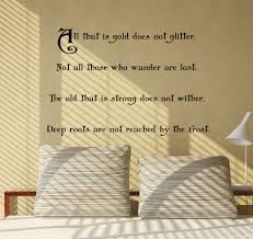 is gold does not glitter wall decal