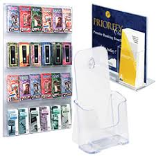 Acrylic Flyer Display Stand Brochure Holders Huge Selection Of Counter Wall Mount Models 34