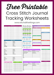 It is 7 printed pages. Cross Stitch Journal And Tracking Worksheets Stitch All The Things