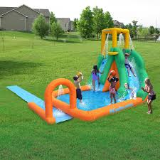 Worldu0027s Longest Inflatable Water Slide Comes To US  ABC NewsWater Slides Backyard