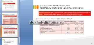 Повышение прибыли и рентабельности предприятия ООО ДиСи  Диплом на тему прибыль и рентабельность