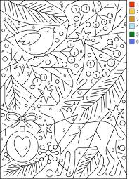 Nicoles Free Coloring Pages Christmas Color By Number Augustei