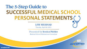 the step guide to successful medical school personal statements  the 5 step guide to successful medical school personal statements