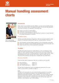 Indg383 Manual Handling Assessment Charts