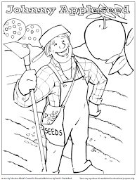 Small Picture Education World Coloring Sheet Johnny Appleseed