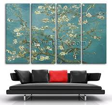 extra large wall decor van gogh flower almond blossom painting art canvas prints oversized almond on amazon extra large wall art with amazon extra large wall decor van gogh flower almond blossom