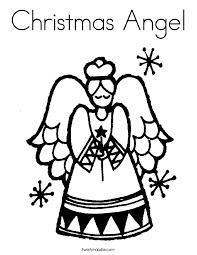 christmas angel coloring page   twisty noodlechristmas angel coloring page