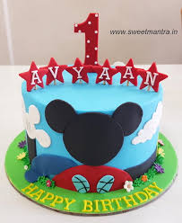 Disney Mickey Mouse Club House Theme Handcrafted Designer Cake For