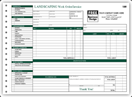 service work orders template 6537 landscaping work order invoice form landscaping forms more