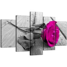 display gallery item 4 five part set of living room pink canvas wall art display gallery item 5 on pink rose canvas wall art with extra large pink rose canvas prints 5 piece in black white
