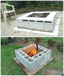 ideas for fire pits cinder block garden projects instructions landscape ideas fire pit backyard homemade outdoor