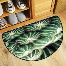 amazon tablecovers home half moon door mat cactus provides protection and cushion for floors w23xh15 inch kitchen dining