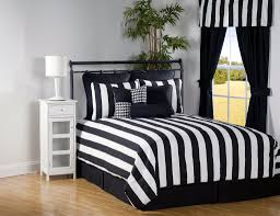 floor amazing black and white striped bedding