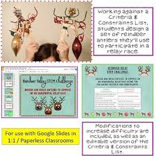 Christmas Winter Stem Challenge Reindeer Relay 1 1 Paperless By