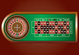 roulette wheel on green table