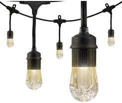 Black Outdoor String Lights Details About Cafe String Lights Integrated Led 24 Bulb 48 Ft 7 In Waterproof Outdoor Black