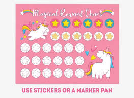 Unicorn Star Chart Printable Unicorn Reward Chart Pony Habit Tracker For Girls