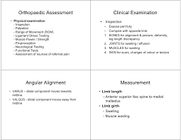 Orthopedic Assessment Chart Orthopaedic Assessment