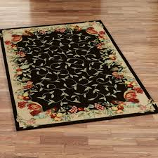 Rugs For Hardwood Floors In Kitchen Magnificent Rectangle Black Wool Best Kitchen Rug Oak Hardwood