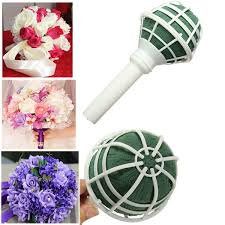 great foam bouquet handle bridal wedding flower holder diy decoration with lace
