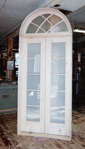 elliptical arch top double french interior door unit frosted obscured glass yonkers ny