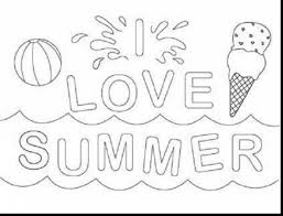 free pre summer coloring pages