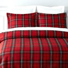 grey plaid flannel duvet cover red king tartan bedding