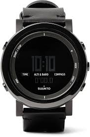 suunto essential ceramic stainless steel and leather digital watch
