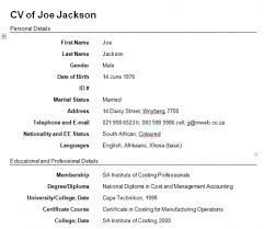 How To Make Curriculum Vitae Stunning Format To Make Cv Morenimpulsarco