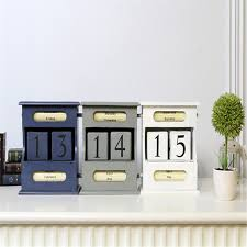arts crafts home office. Coloffice Vintage Mediterranean Style Wood Perpetual Calendar DIY Art Crafts Home Office School Desk Decoration Gifts-in From Arts
