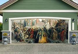 nativity scene banners for 2 car garage door covers outdoor 3d effect full color