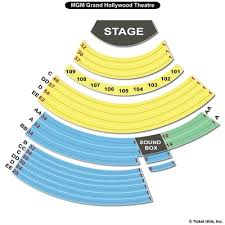seating chart reset mgm grand hollywood theatre
