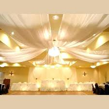 Ceiling Fabric Draping Draped Ceiling Bedroom 6 Panel Sheer Voile Ceiling  Draping Kit Feet Wide Fabric . Ceiling Fabric Draping ...