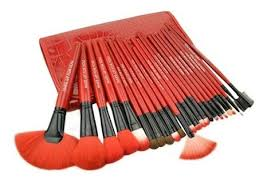 24 piece royal red make up royal red make up brush set with free case my