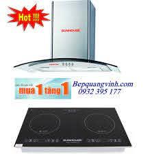 Bếp từ Sunhouse SHB9108-S tặng máy hút mùi kính cong SHB 6629