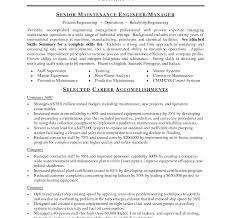 Maintenance Supervisor Sample Resume Apartment Manager Resume