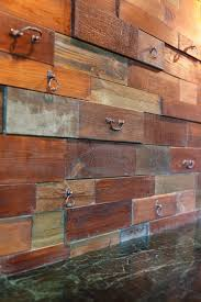 wall texture from old drawer fronts is a unique solution that may be diyed