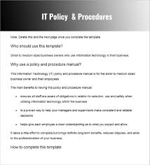 Procedure Note Template Policy And Procedure Templates Word Pdf Download