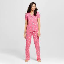 Nite Nite Munki Munki Womens Pajama Set Spring Chicken