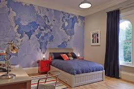 Minecraft Bedroom Wallpaper Kids Contemporary With World Map Mural Adhesive  Wall Murals
