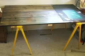 wh sawhorse desk legs chrome