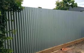 corrugated metal fence. Exellent Fence Corrugated Steel Fence Grey Metal  Throughout Corrugated Metal Fence