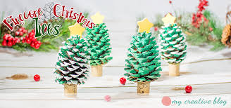 Easy Holiday Crafts For Kids To Make Before ChristmasPine Cone Christmas Tree Craft Project