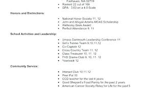 College Application Resume Template Bad Resumes Examples Example For
