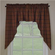 Primitive Country Kitchen Curtains Country Straight Valance Curtains Primitive Spice Pattern