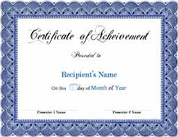Congratulations Certificate Template Word