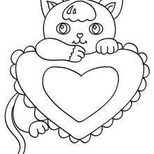 Small Picture Cute cat coloring pages Hellokidscom