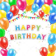Happy Birthday Background Images Happy Birthday Background From Balloons On White Background Stock