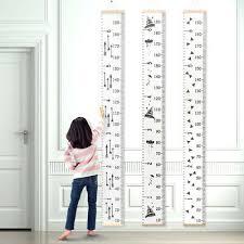 Wooden Kids Growth Height Chart Ruler Children Room Decor