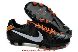 nike tiempo legend iv fg tpu kangaroo leather cleats for black white orange soccer cleats